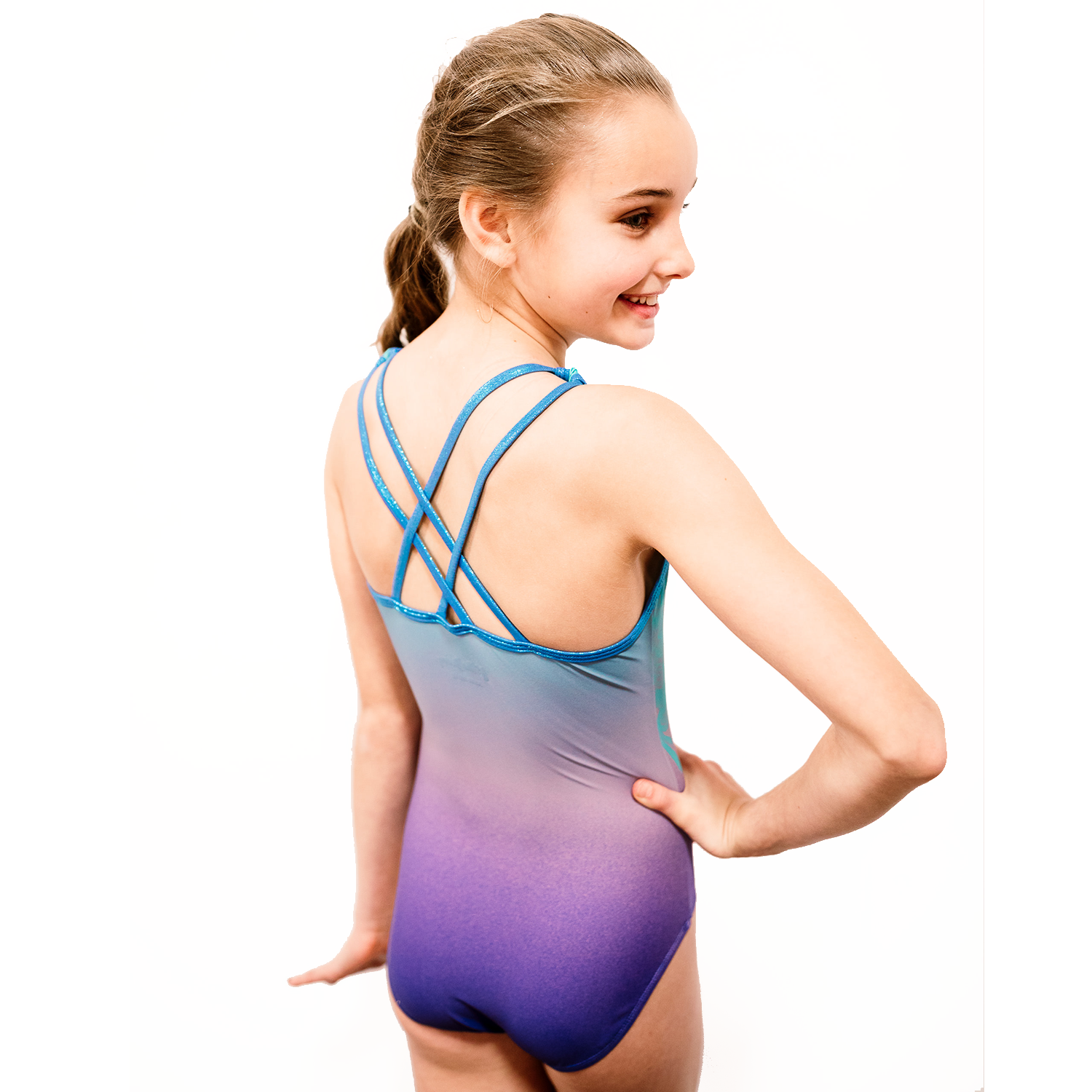 Glitterdreams Girls Purple Gymnastics Leotard