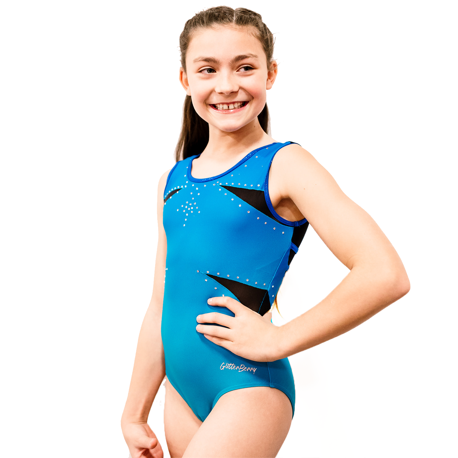Izzyberry Girls Blue Gymnastics Leotard